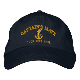 Captain's Mate Anchor Easily Personalized Embroidered Hats