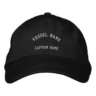 Captains Vessel Embroidered Cap Black