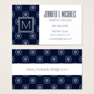 Captain'S Wheel Pattern Business Card