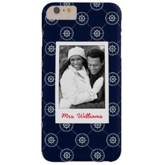 Captain'S Wheel Pattern | Your Photo & Name Barely There iPhone 6 Plus Case