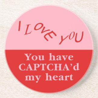 Captcha Valentine Drink Coasters