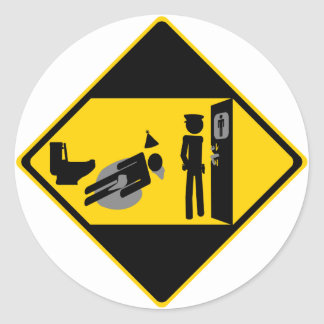 Captian Ridiculous Road Sign Classic Round Sticker