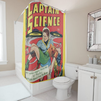 captian science shower curtain