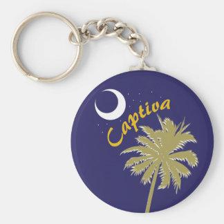 Captiva Island Night Basic Round Button Key Ring