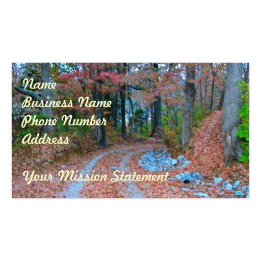 Captivating Autumn Afternoon Drive Business Card Templates