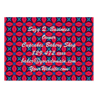 captivating kaleidoscope   decorative blue and red large business cards (Pack of 100)