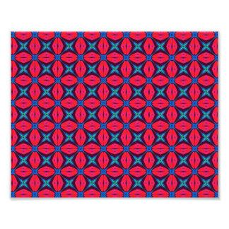 captivating kaleidoscope decorative blue and red photograph