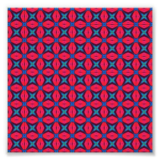 captivating kaleidoscope decorative blue and red photograph