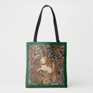 Captive Unicorn medieval tapestry Tote Bag