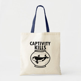 Captivity Kills free the orca whales bag