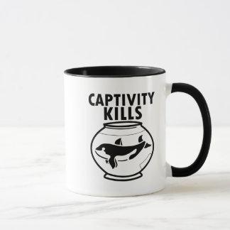 Captivity Kills, Free the Orca whales coffee mug