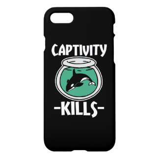 Captivity Kills, Free the Orca whales phone case