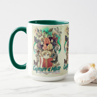 Capture a Muse-Book Cover Mug-Yvonne Heidt Mug