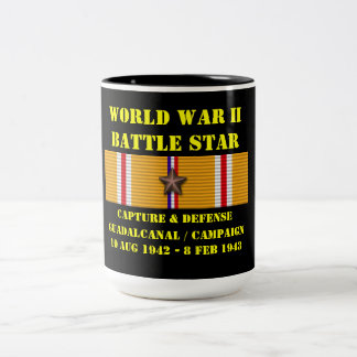Capture And Defense Of Guadalcanal Campaign Two-Tone Mug