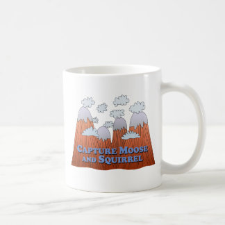 Capture Moose and Squirrel - Dark Basic White Mug