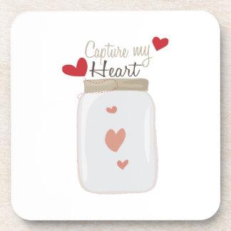 Capture My Heart Drink Coaster