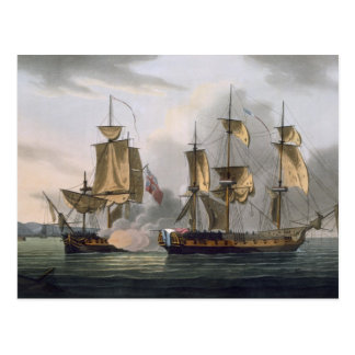 Capture of La Reunion, October 21st 1793, from 'Th Postcard