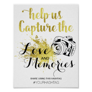 CAPTURE THE MOMENT HASHTAG | CELEBRATION POSTER