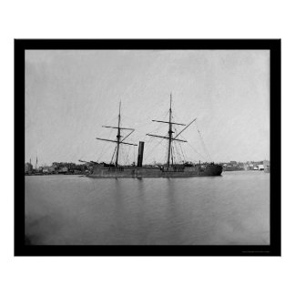 Captured Ironclad Ram at Anchor near Capitol 1865 Poster