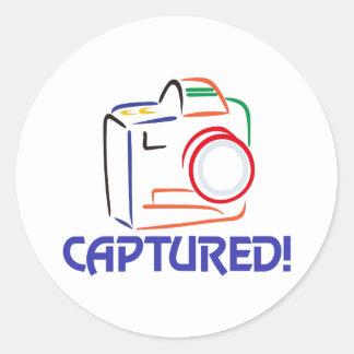 Captured on Camera Round Sticker