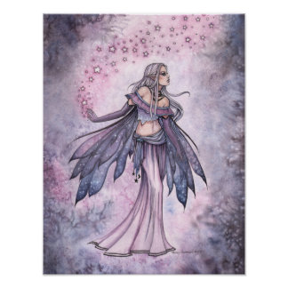 Captured Sky Purple Fairy Art Poster