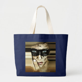Capuchino man in brown tote bag