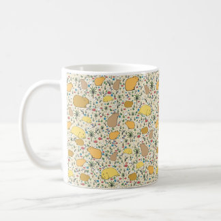 Capybara Mug, Yellow Coffee Mug