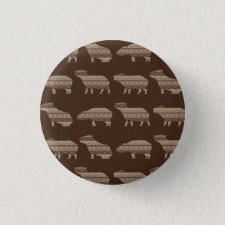 Capybara Pattern 3 Cm Round Badge
