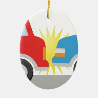 Car Accident Ceramic Ornament