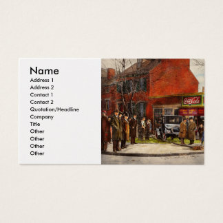 Car - Accident - Looking out for number one 1921 Business Card