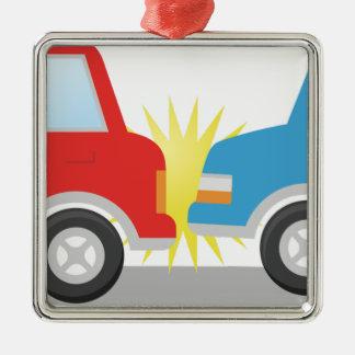 Car Accident Metal Ornament