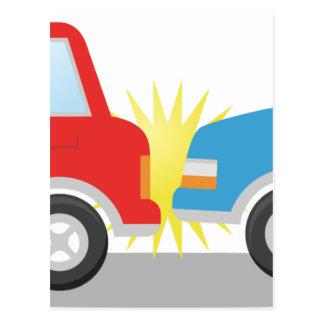 Car Accident Postcard