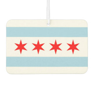 Car Air Fresheners with Flag of Chicago, USA