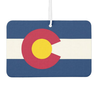 Car Air Fresheners with Flag of Colorado, USA
