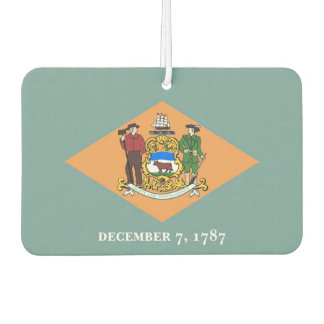 Car Air Fresheners with Flag of Delaware, USA