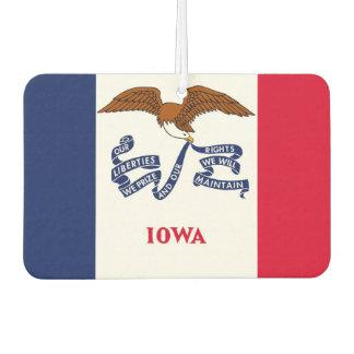 Car Air Fresheners with Flag of Iowa, USA