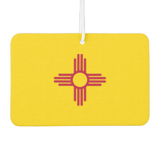 Car Air Fresheners with Flag of New Mexico, USA