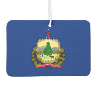 Car Air Fresheners with Flag of Vermont State