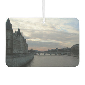 Car Air Fresheners with sunset in Paris