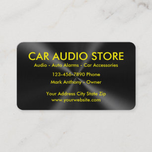 Car audio business cards zazzle au car audio business cards colourmoves