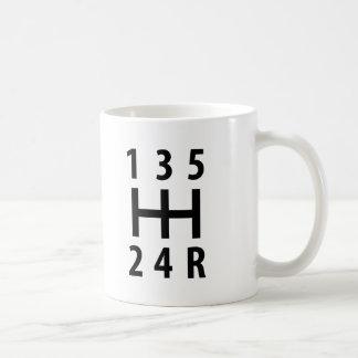 car auto gear shift 5 coffee mugs