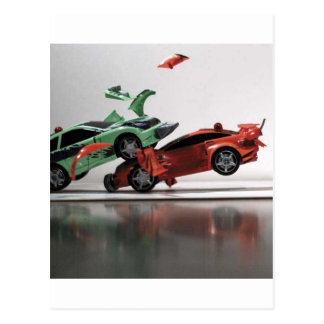 car-crash postcard