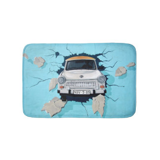 Car crosses a wall bath mat