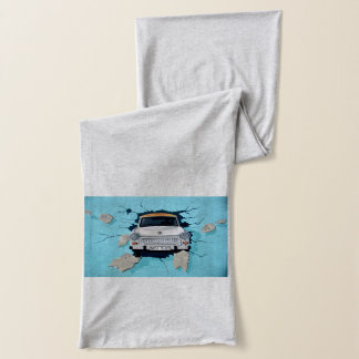 Car crosses a wall scarf