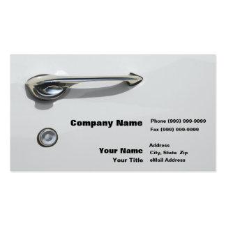 Car Door Handle Business Card Templates