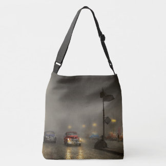 Car - Down a lonely road 1940 Crossbody Bag