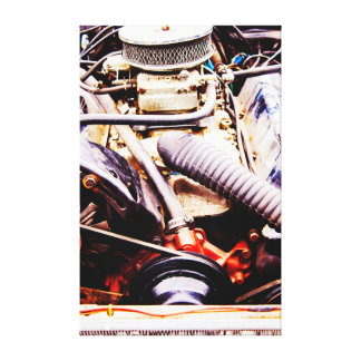 Car Engine Canvas
