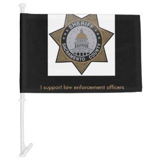 Car flag...I support law enforcement officers Car Flag