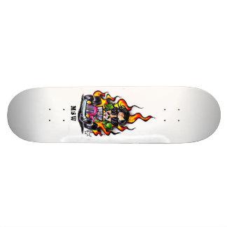 Car Flame Shape Custom Skateboard