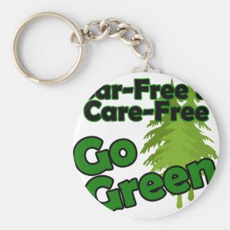 car free & care free basic round button key ring